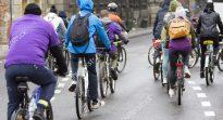 Bicicletas en ciudad